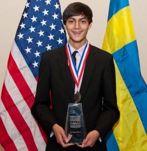 Kunal Sangani won the 2012 U.S. Stockholm Junior Water Prize. Photo courtesy of Allison O'Brien.
