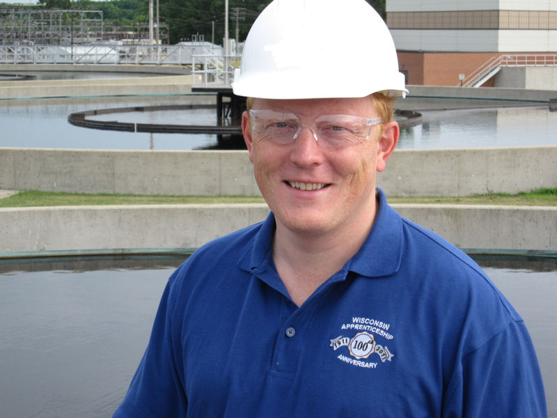 Owen Smith, program and policy analyst in the Wisconsin Department of Workforce Development Bureau of Apprenticeship Standards, along with the bureau and other partners began developing the state's operator apprenticeship program after industry representatives expressed a need for more operators. Photo courtesy of the Madison Metropolitan Sewerage District.