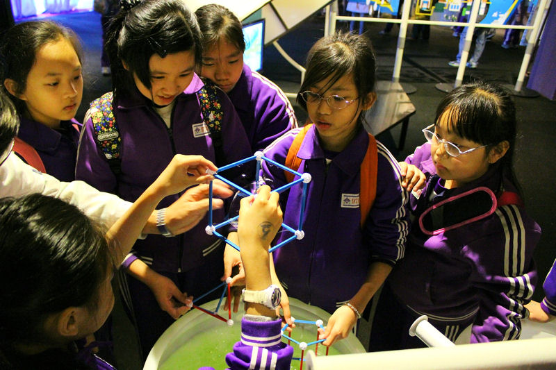 "For World Water Day, the National Taiwan Science Education Center (NTSEC; Taipei) has been hosting the special exhibition ""The Story of Water,"" which uses interactive elements to educate about water science and the future of water. Photo courtesy of NTSEC."