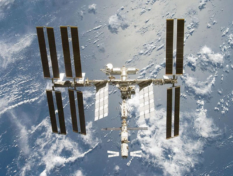 Complete water recycling systems both reduce cost and protect the health astronauts. The International Space Station (ISS), pictured above, has had a water-recycling system since 2009. Photo courtesy of Michael T. Flynn, U.S. National Aeronautics and Space Administration (NASA) Ames Research Center.