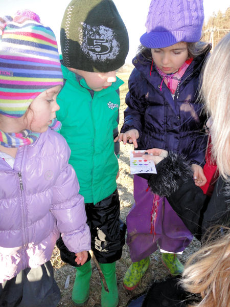 Children test local waterways in Austria with the World Water Monitoring Challenge (WWMC) test kits. WWMC photo.