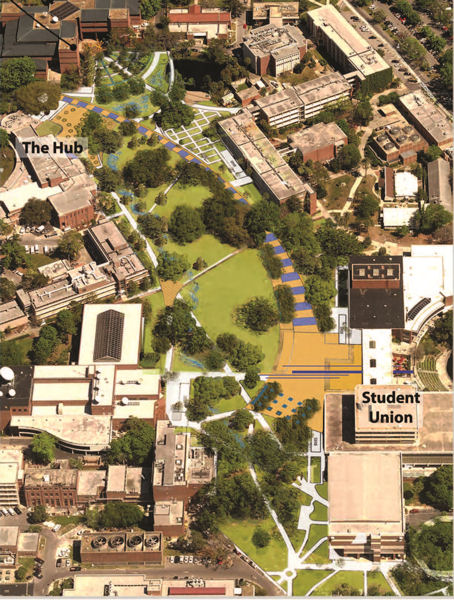 University of Florida, Gainesville's redevelopment plan won first prize for a large institution. Photo courtesy of EPA.