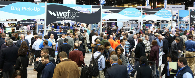 Water professionals register for WEFTEC 2013 in Chicago. Photo courtesy of Oscar Einzig photography.