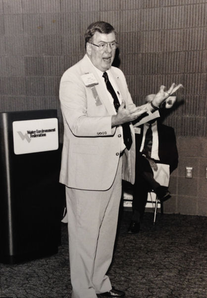 Sorber spoke at WEF's annual technical exhibition and conference in 1992. WEF archives photo.