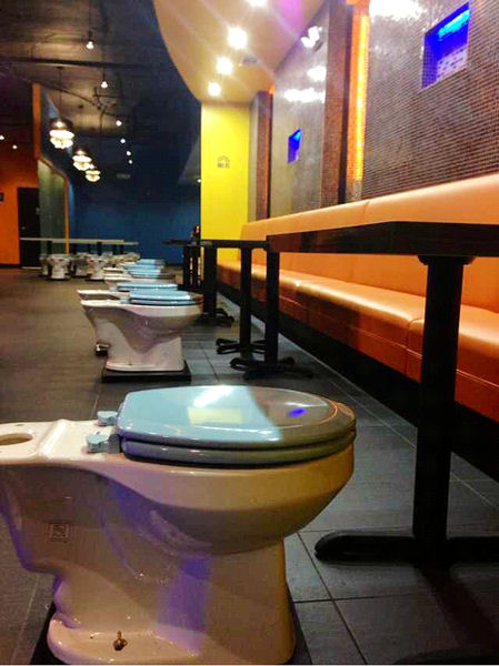 Magic Restroom Café in City of Industry, Calif. features toilet seats and other bathroom accessories as decor. Photo courtesy of Daniel Chyan, Magic Restroom Café.
