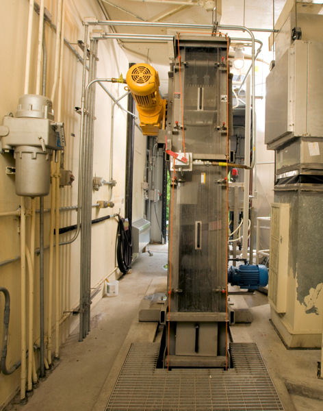 A screening system was installed at Cottage Place Pump Station. Photo courtesy of the Portland Water District.