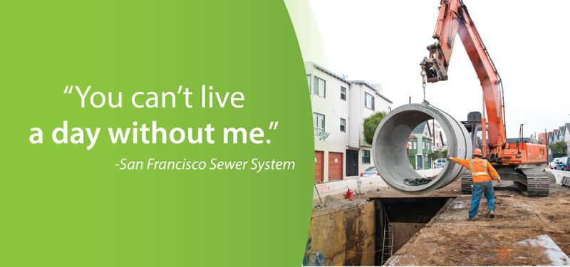 San Francisco Public Utilities Commission has given its sewer a voice through its public messaging campaign. Photo courtesy of the San Francisco Public Utilities Commission.