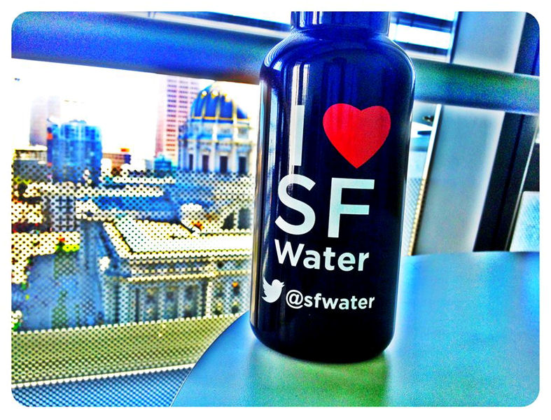 The commission gives away water bottles and t-shirts so residents can continue showing pride in the system, according to Lily Madjus, communications manager for the commission. Photo courtesy of the San Francisco Public Utilities Commission.
