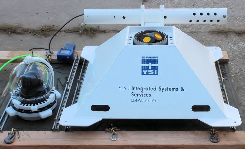 The integrated monitoring platform and underwater camera developed by YSI, a Xylem brand, and Verizon now is being used for the Billion Oyster Project. Photo courtesy of YSI, a Xylem brand.