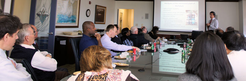 Water sector professionals gathered at Water Environment Federation (WEF; Alexandria, Va.) headquarters to hear Julian Sandino, a vice president at CH2M Hill (Englewood, Colo.) present his vision for the future. WEF photo/Jennifer Fulcher.