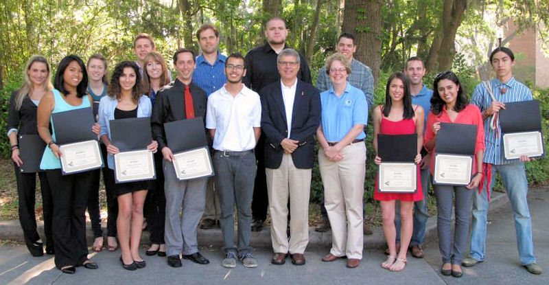 Nancy Stoner, U.S. Environmental Protection Agency (EPA) acting assistant administrator, presented certificates to the University of Florida, Gainesville team that took first place in the Campus RainWorks Challenge Master Plan category. Photo courtesy of University of Florida College of Design, Construction, and Planning.