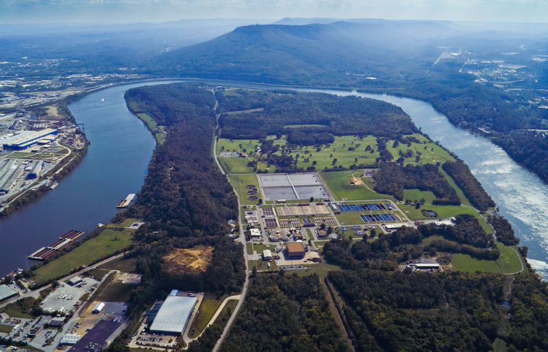 As a platinum-certified National Biosolids Partnership (Alexandria, Va.) facility, the Moccasin Bend Wastewater Treatment Plant offers educational program to increase knowledge of its biosolids program. Photo courtesy of the City of Chattanooga.