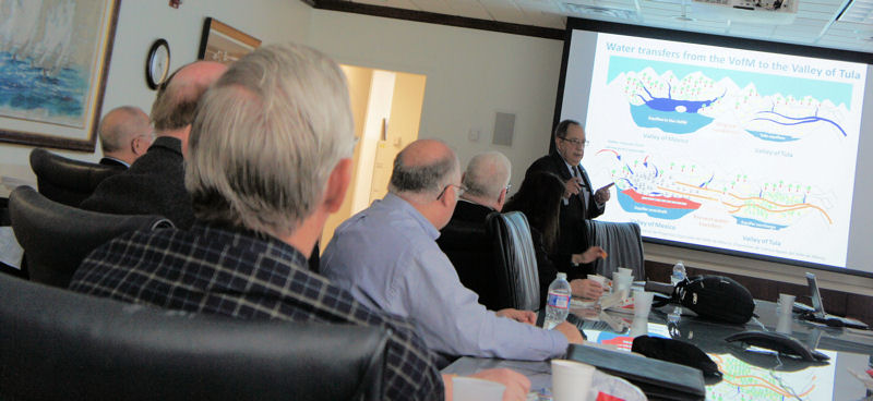 Espino discussed the Valley of Mexico's water problems and potential solutions during a luncheon of the U.S. chapter of the Inter-American Association of Sanitary & Environmental Engineering (Arlington, Va.). WEF photo/Fulcher.