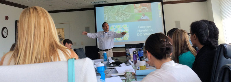 During the Water Leadership Institute event, George Hawkins, general manager of DC Water (Washington, D.C.), shared his experiences and recommendations for optimal leadership. WEF photo/Fulcher.