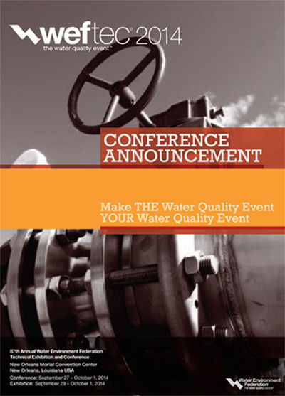 Click to see the WEFTEC 2014 Conference Announcement.