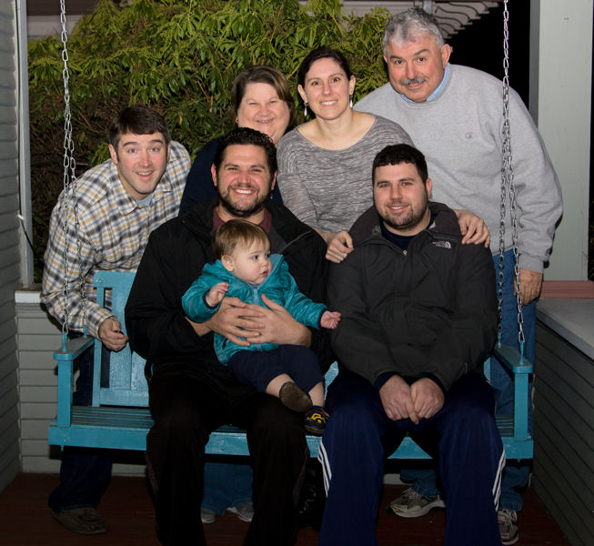 Engineering, wastewater treatment, and the Water Environment Federation (Alexandria, Va.) membership are things several members of the Mennitis family share. Family members include, back row from left, Jeff Stallard, Sherry Menniti, Adrienne Menniti, and Greg Menniti, and front row from left, Tony Menniti, Collin Stallard, and Scott Menniti. Photo courtesy of Adrienne.