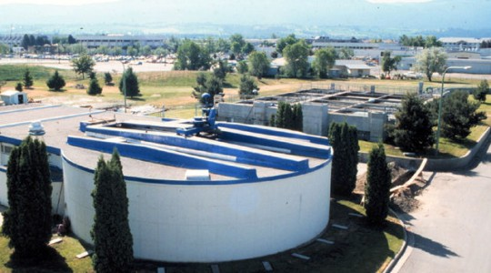 The City of Kelowna, British Columbia installed the world's first fermenter at the Kelowna Wastewater Treatment Facility. Photo courtesy of Gerry Stevens and the City of Kelowna.