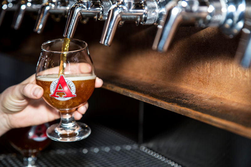 Avery Brewing's new tap room and restaurant has 60 taps with 30 different beers on draft. Photo courtesy of The Brewtography Project.
