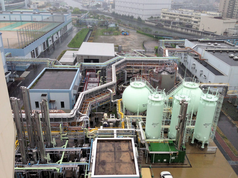 Biogas produced by the City of Kobe, Japan fuels city and private vehicles. Photo courtesy of McCormick.