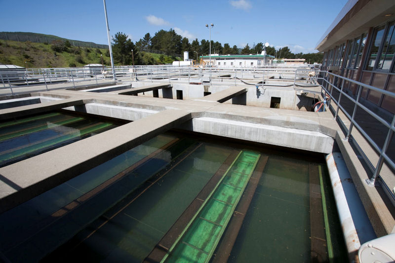 Five new filters were added as part of the hydraulic improvements made to the San Francisco Public Utilities Commission water treatment facility, the Harry Tracy Water Treatment Plant. Photo courtesy of the San Francisco Public Utilities Commission.