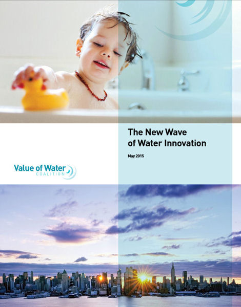 The Value of Water Coalition released the briefing paper, <i>The New Wave of Innovation</i>. Photo courtesy of the Value of Water Coalition.