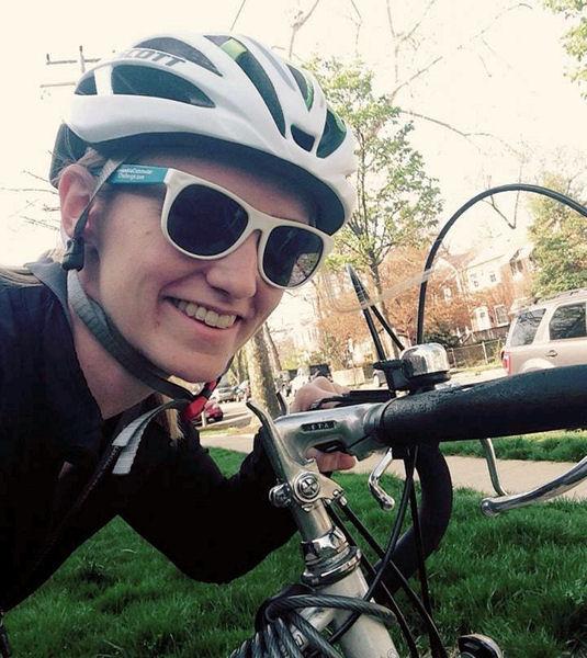 WEF staff member Jessica Rozek bikes to work during the 2015 City of Alexandria Commuter Challenge. WEF photo/Rozek.