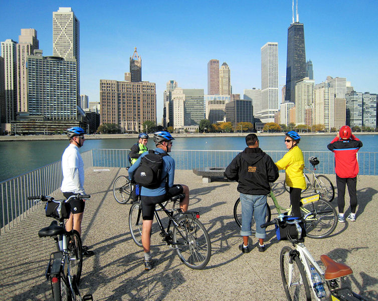 The first bicycle ride to raise funds for Water for People (Denver) took place at WEFTEC 2008 in Chicago. Photo courtesy of Gary De Kock.