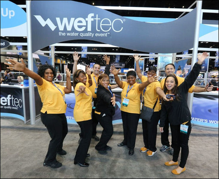 WEF staff help register attendees at WEFTEC 2013. Photo courtesy of Oscar Einzig Photography.