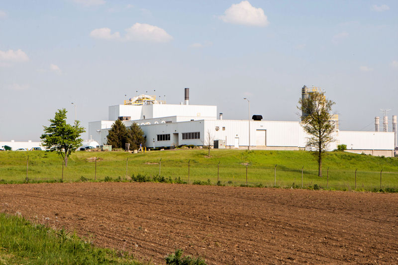 The Nutrinsic protein production facility is co-located with the brewery's water reclamation facility. Photo courtesy of Nutrinsic Corp.