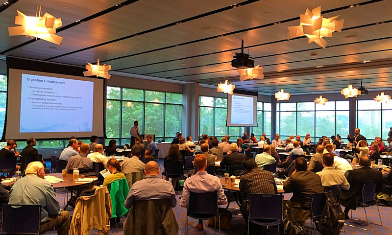 Water sector professionals attending the 2015 Intensification of Resource Recovery (IRR) Forum were able to learn intensifying technologies and develop partnerships with technology providers. Water Environment Federation (Alexandria, Va.) photo/Laura Herman.