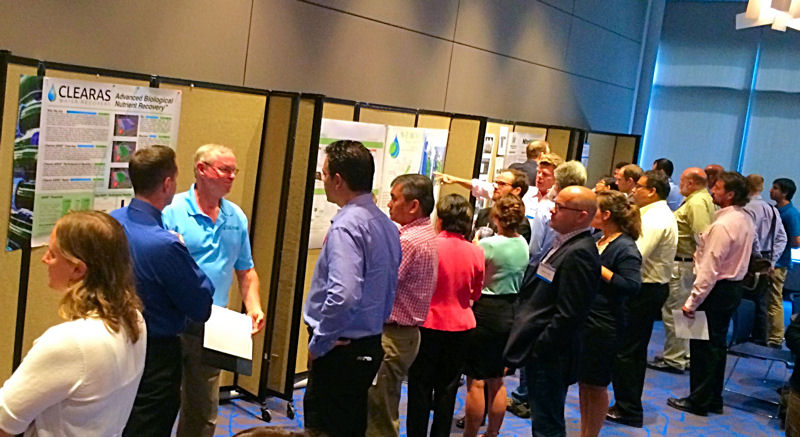 IRR Forum attendees were able to browse posters to learn about intensifying technologies. WEF photo/Herman.