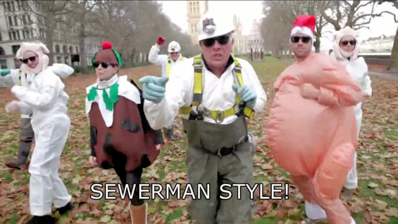 "The Singing Sewermen of Thames Water (London) released a video for ""Sewermen Style,"" a parody of ""Gangnam Style."" Photo courtesy of Thames Water."