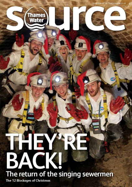 "The Singing Sewermen of Thames Water (London) released a video for ""The Twelve Blockages of Christmas,"" a parody of ""The Twelve Days of Christmas."" Photo courtesy of Thames Water."
