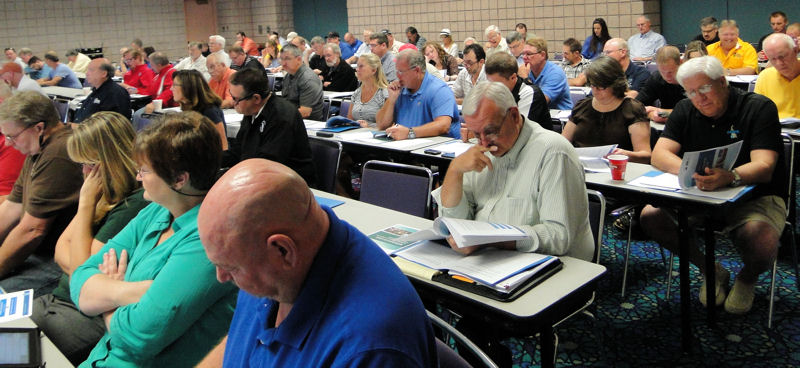 Those attending the EPA workshop were able to learn about sustainable management practices for small and rural utilities. Photo courtesy of EPA and National Rural Water Association.
