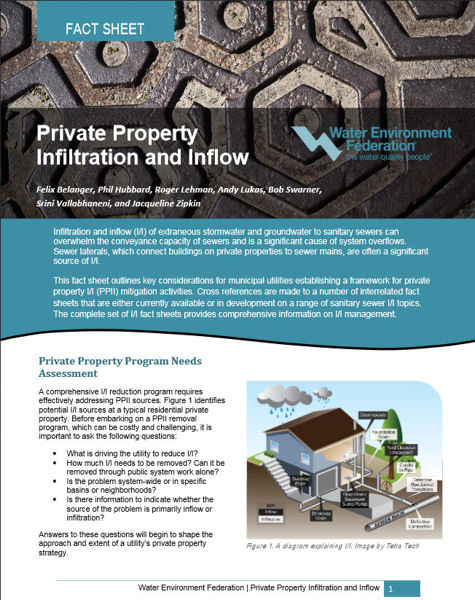 Private Property Infiltration and Inflow Fact Sheet
