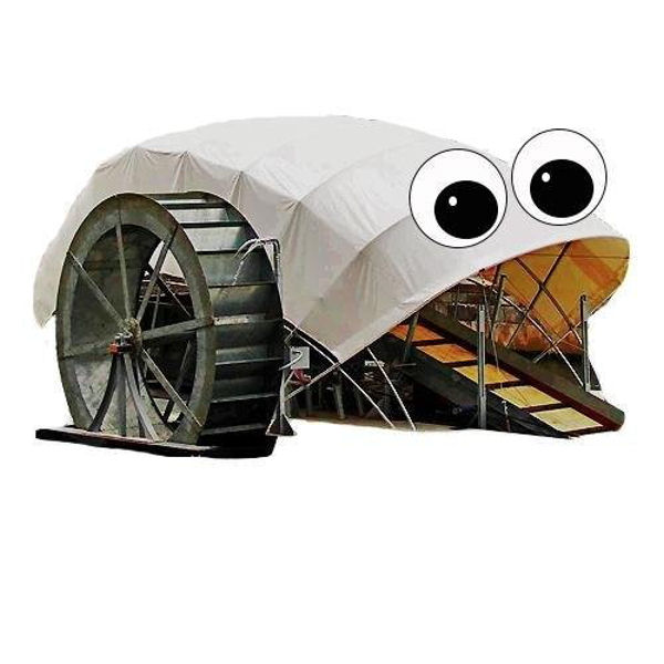 Mr. Trash Wheel's social media persona reaches 5500 followers on Twitter and educates about the importance of clean waterways. Photo courtesy of the Waterfront Partnership of Baltimore.