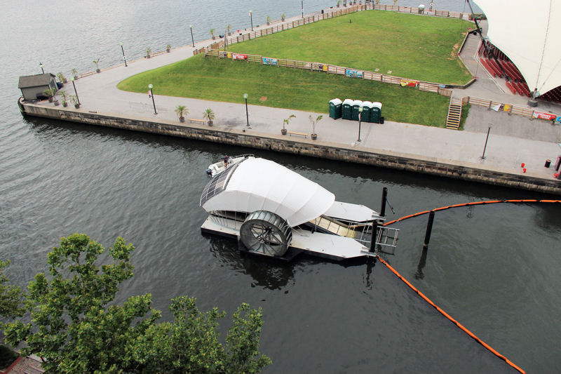 Mr. Trash Wheel is part of the Waterfront Partnership of Baltimore's effort to make the harbor swimmable and fishable by 2020. Photo courtesy of the Waterfront Partnership of Baltimore.