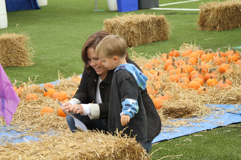 Community members at the Family FieldFest on Oct. 24, could hear live music; purchase food from vendors; participate in exercise classes, pumpkin painting, arts and crafts projects, and a sports league expo; and see demonstrations by local companies focused on healthy and sustainable living. Photo courtesy of Dave Masucci, David Masucci Photography.