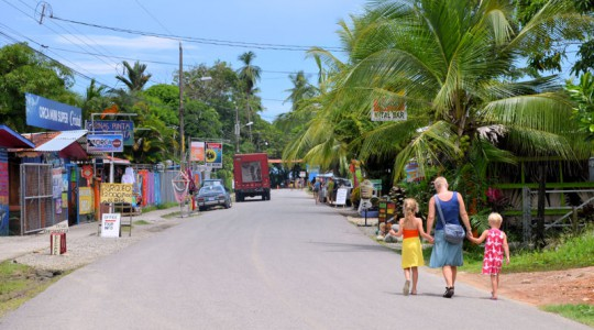 For its second project, GWS focused on Bahia Bellena, a village of several tightly packed commercial establishments and 40 to 50 homes. The village sits at the entrance of the Marino Ballena National Park in Costa Rica. Photo courtesy of the Global Water Stewardship.