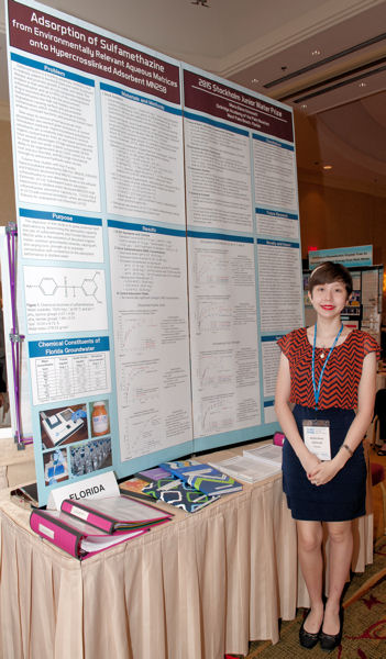Participating in the 2015 SJWP competition allowed Grimmett the opportunity to speak with other researchers interested in her work. Photo courtesy of AOB Photo.