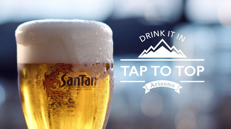The Tap to Top outreach campaign educates Arizona citizens about the connectionb between healthy watersheds and beer. Photo courtesy of the National Forest Foundation (Missoula, Mont.).