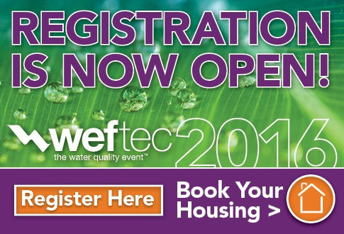 WEFTEC 2016 Register Now