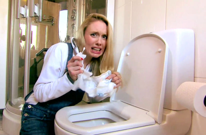 "The video, a parody of M.C. Hammer's ""Can't Touch This"" conveys how flushing wipes, sanitary products, and cotton buds should be discarded in trash and not flushed. Photo courtesy of United Utilities."