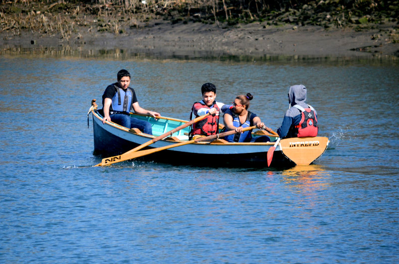 Rocking the Boat (New York) connects students to academic concepts about water and waterways through its On-Water Classroom in the South Bronx. Photo courtesy of Rocking the Boat.