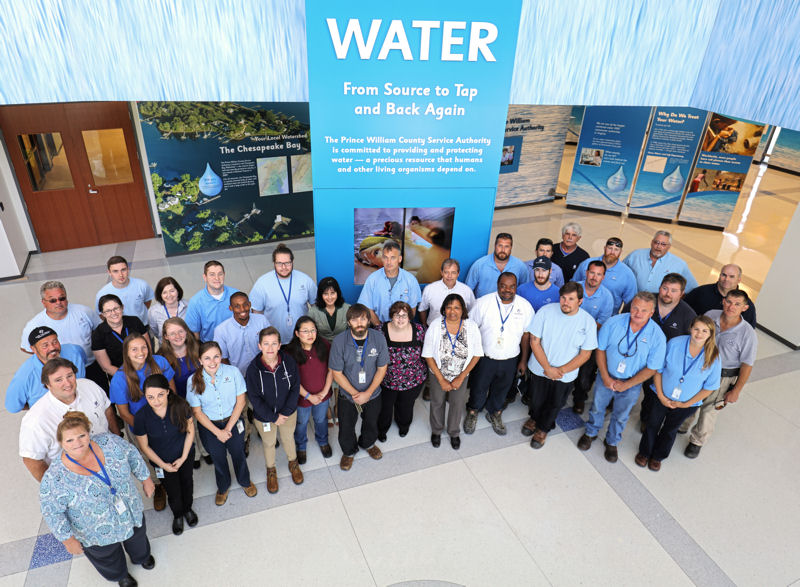 H.L. Mooney Advanced Water Reclamation Facility employees pose after the facility won its third National Association of Clean Water Agencies (Washington, D.C.) 2015 Platinum Peak Performance Award. Photo courtesy of Kipp Hanley, Prince William County Service Authority.