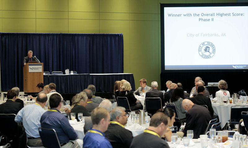 The WEFTEC 2015 Stormwater Congress showcased technical content in a facility tour, sessions, and this luncheon. Photo courtesy of Oscar & Associates.