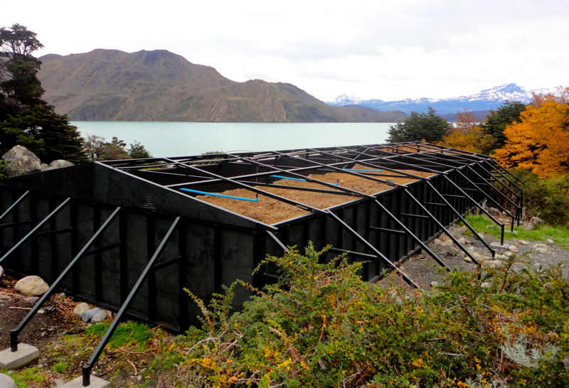 Worms provide sanitary wastewater treatment in Torres del Paine National Park, Patagonia Chile. Photo courtesy of BioFiltro.