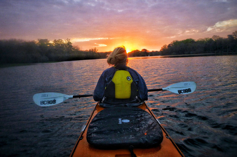 To conclude a week of kayaking and camping, students have the opportunity to reflect alone on their personal experience. Photo courtesy of Kevin Neff, Baltimore Chesapeake Bay Outward Bound School.