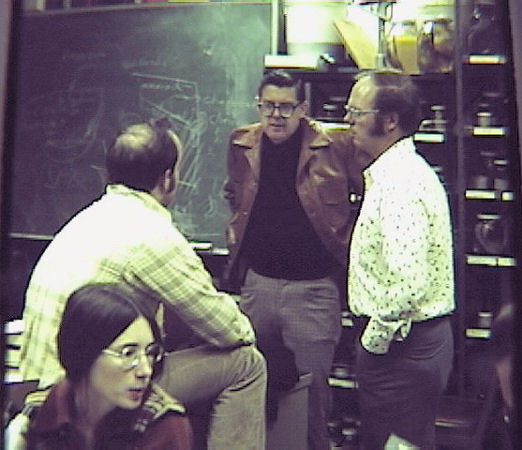 Reish (third from left) confers with colleagues in his laboratory during the 1960s. Photo courtesy of Mearns.