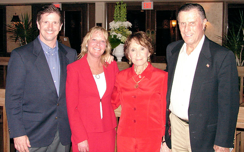 At WEFTEC 2007, Randy Hamlett and his wife, Sue (left), enjoyed dinner with Randy's parents, Bruce (far right) and Diana (second from right). Photo courtesy of the Hamlett family.